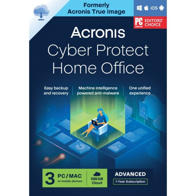 Acronis Cyber Protect Home Office Advanced 2022| 3-PC | 1-Jaar | 250 GB cloud back-up
