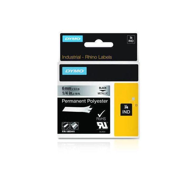 DYMO 1805441 labelprinter-tape Zwart op metallic