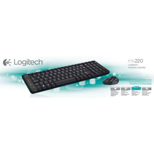 Logitech G MK220 toetsenbord RF Draadloos QWERTY US International Zwart