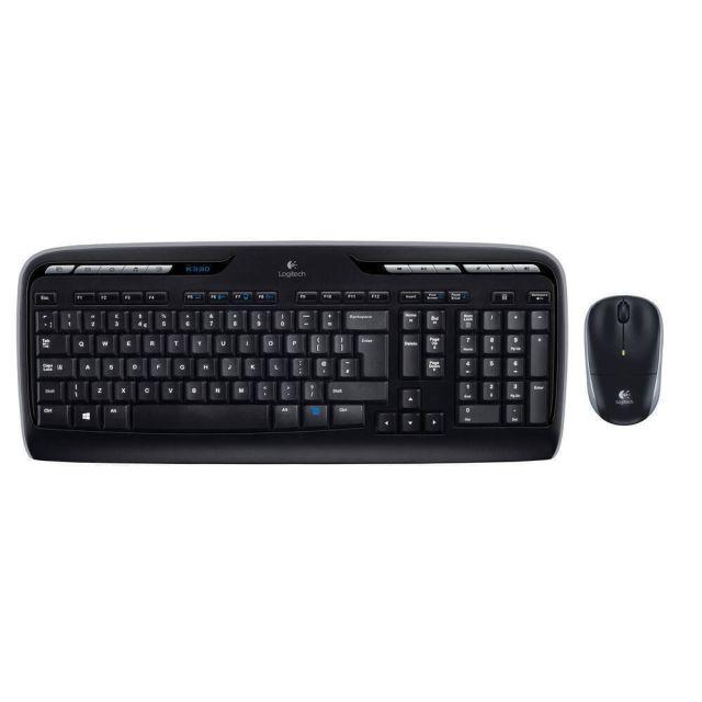 Logitech MK330 toetsenbord RF Draadloos AZERTY Belgisch Zwart