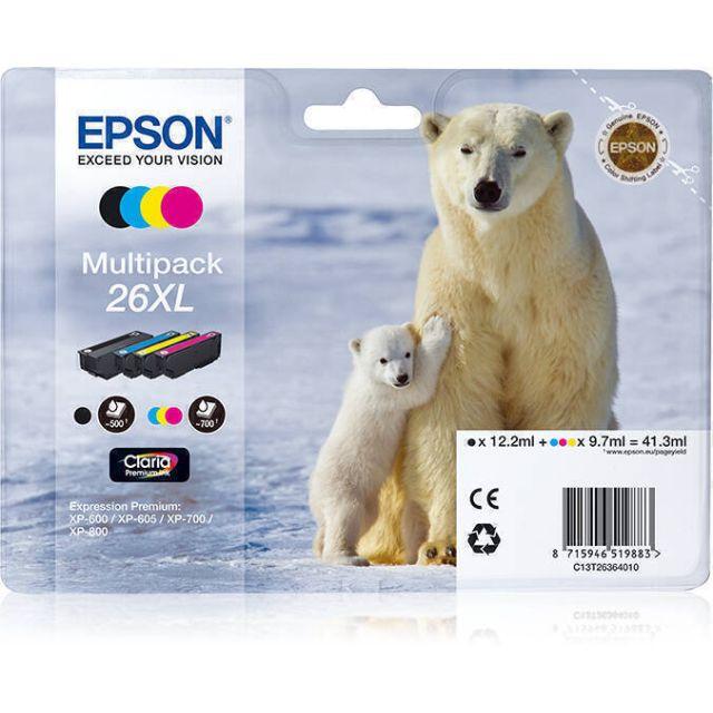 Epson Polar bear C13T26364010 inktcartridge 1 stuk(s) Origineel Zwart, Cyaan, Magenta, Geel