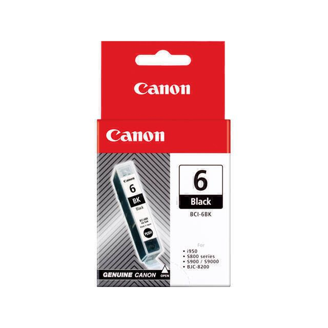 Canon BCI-6 BK inktcartridge 1 stuk(s) Origineel Zwart