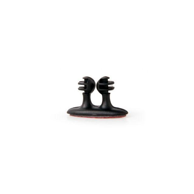 Zelfklevende kabelclips, 8 stuks, zwart