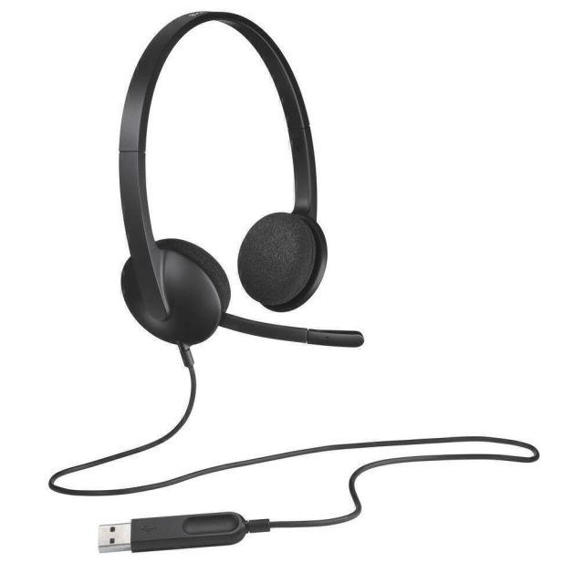Logitech H340 Headset Hoofdband USB Type-A Zwart