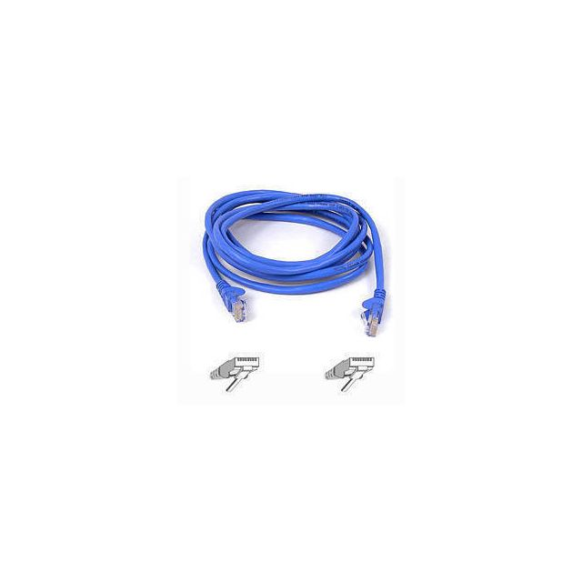 Belkin Cable patch CAT5 RJ45 snagless 1m blue netwerkkabel Blauw