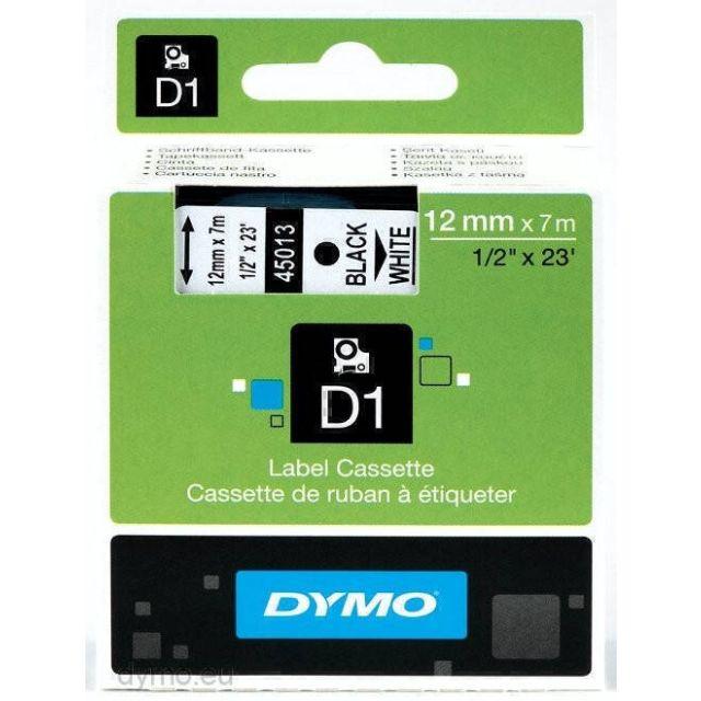 DYMO D1 Standard - Black on White - 12mm labelprinter-tape Zwart op wit