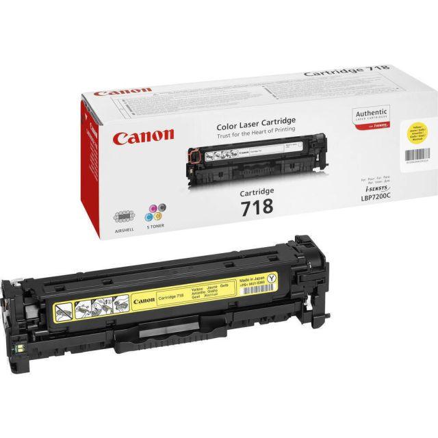 Canon CRG-718 Y toner cartridge 1 stuk(s) Origineel Geel