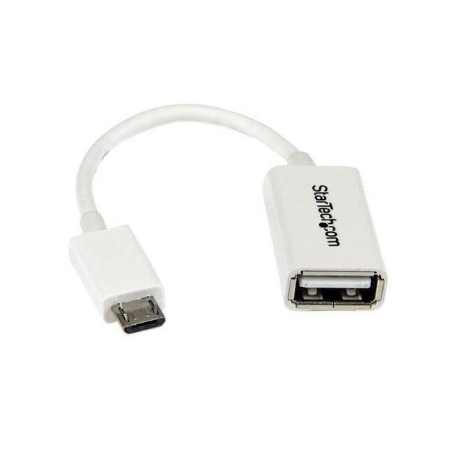 StarTech.com UUSBOTGW USB-kabel 0,127 m USB 2.0 Micro-USB B USB A Wit
