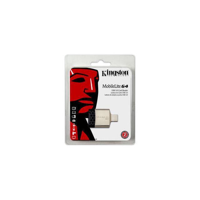 Kingston Technology MobileLite G4 geheugenkaartlezer USB 3.2 Gen 1 (3.1 Gen 1) Zwart, Grijs