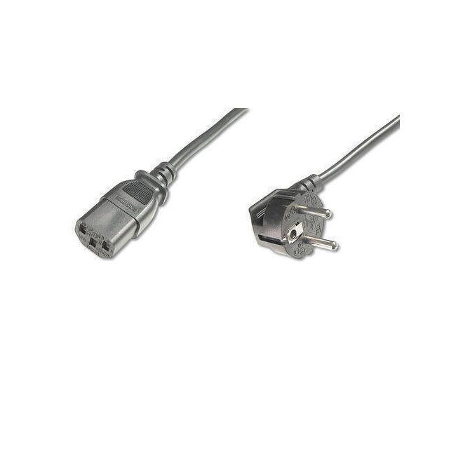 Digitus AK-440109-008-S electriciteitssnoer Zwart 0,75 m C13 stekker