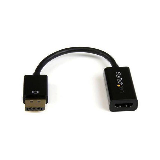 StarTech.com DP2HD4KS video kabel adapter 0,15 m DisplayPort HDMI Type A (Standaard) Zwart