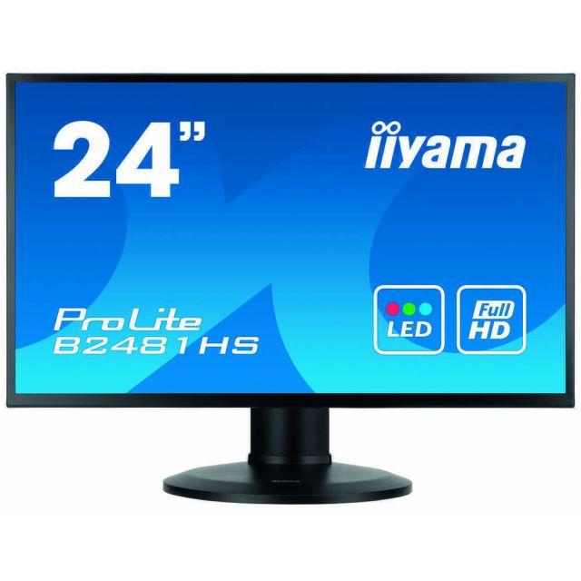 iiyama ProLite XB2481HS-B1 LED display 59,9 cm (23.6 inch) 1920 x 1080 Pixels Full HD Zwart