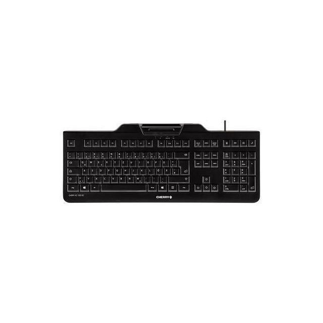 CHERRY KC 1000 SC toetsenbord USB QWERTZ Zwitsers Zwart
