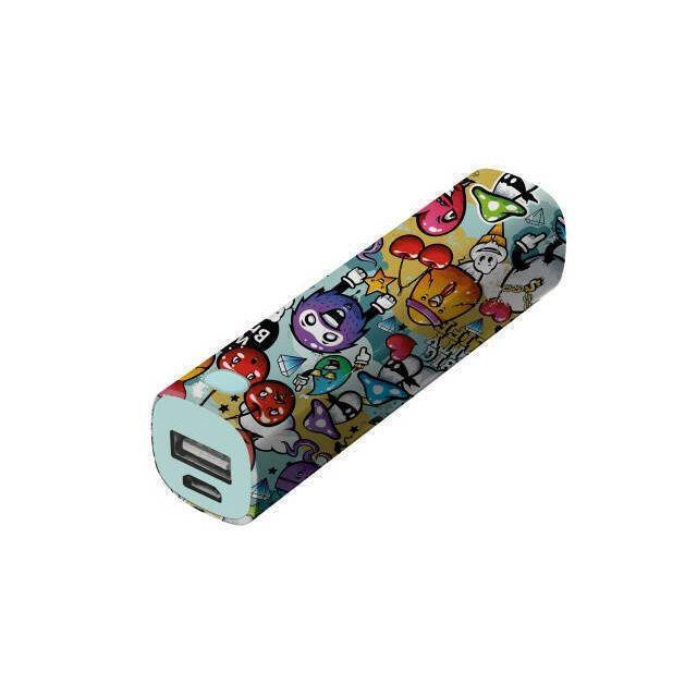 Trust Graffiti powerbank 2600 mAh Cyaan, Oranje, Paars, Rood