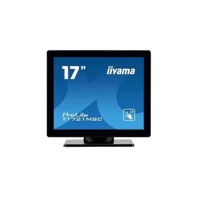 iiyama ProLite T1721MSC-B1 touch screen-monitor 43,2 cm (17 inch) 1280 x 1024 Pixels Multi-touch Tafelblad Zwart
