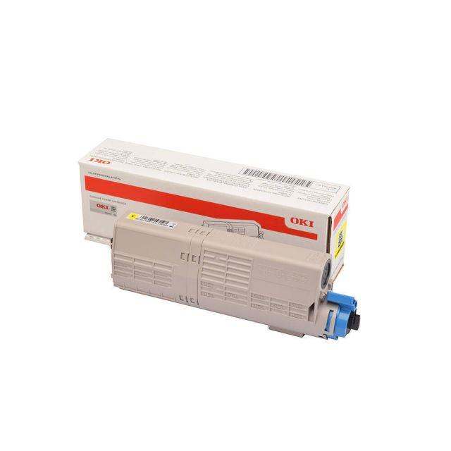 OKI 46490605 toner cartridge 1 stuk(s) Origineel Geel