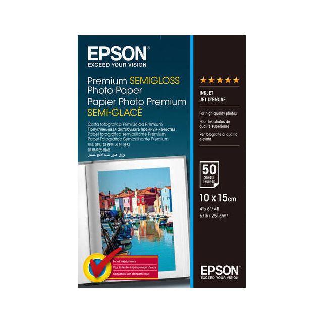 Epson Premium, 100 x150 mm, 251g/m² pak fotopapier Wit Semi-gloss