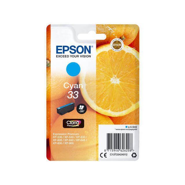 Epson Oranges C13T33424022 inktcartridge 1 stuk(s) Origineel Cyaan