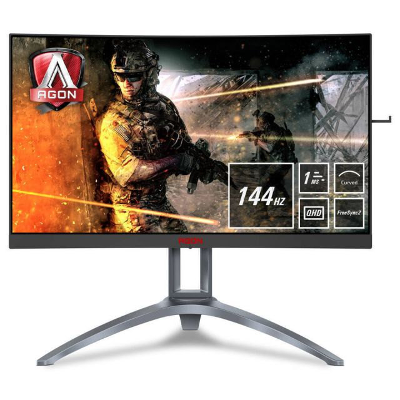 AOC AGON 3 AG273QCX PC-flat panel 68,6 cm (27 inch) 2560 x 1440 Pixels Quad HD LED Zwart, Rood