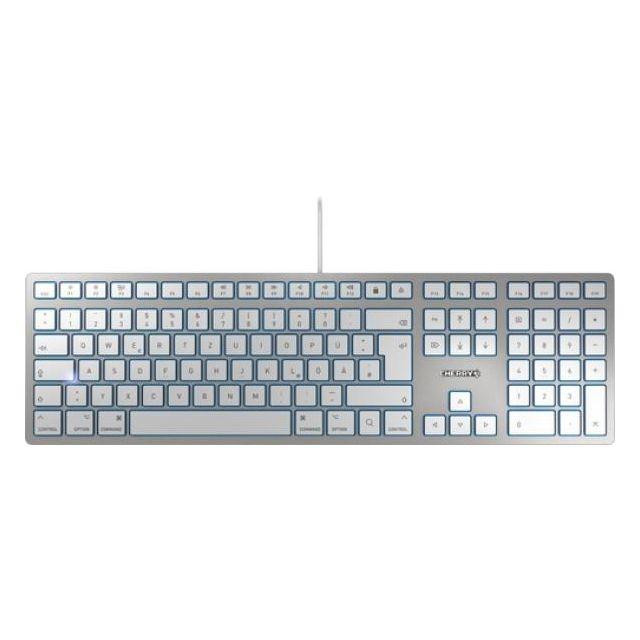CHERRY KC 6000 SLIM FOR MAC toetsenbord USB QWERTZ Duits Zilver