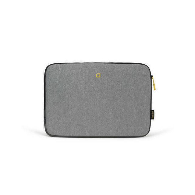 Dicota D31743 notebooktas 35,8 cm (14.1 inch) Opbergmap/sleeve Grijs, Geel