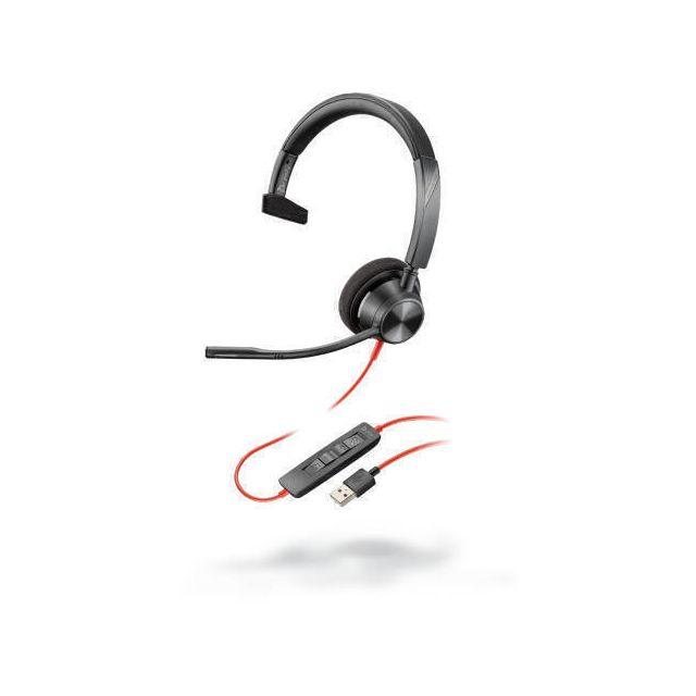 POLY 3310 Headset Hoofdband USB Type-A Zwart