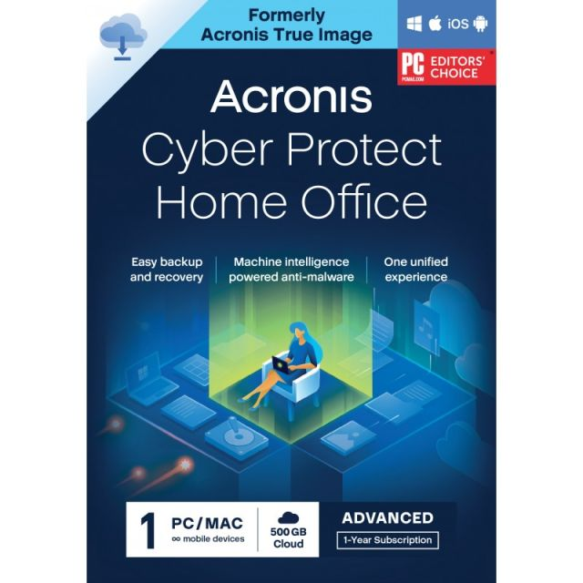 Acronis Cyber Protect Home Office Advanced 2022| 1-PC | 1-Jaar | 250 GB cloud back-up