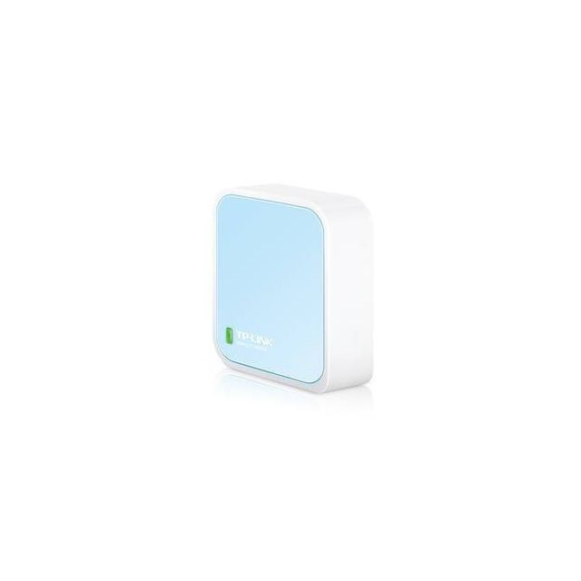 TP-LINK 300Mbps Wireless N Nano Router wireless router Fast Ethernet Single-band (2.4 GHz) Blauw, Wit