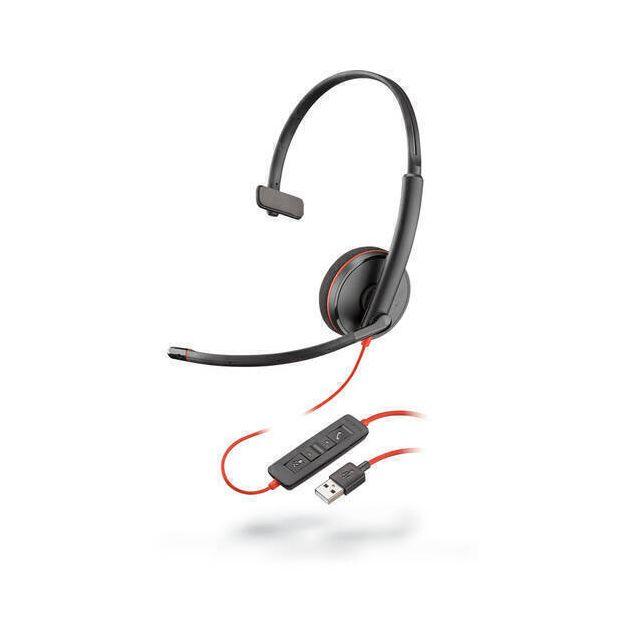 POLY Blackwire C3210 Headset Hoofdband USB Type-A Zwart