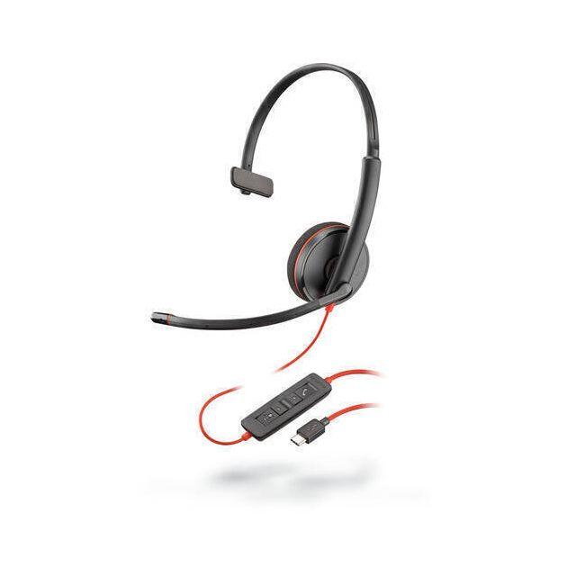 POLY Blackwire C3215 Headset Hoofdband 3.5 mm connector USB Type-A Zwart