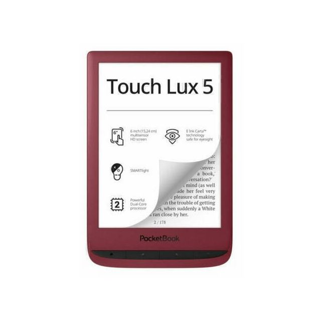 Pocketbook Touch Lux 5 e-book reader Touchscreen 8 GB Wi-Fi Rood