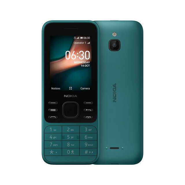 Nokia 6300 4G 6,1 cm (2.4 inch) 104,7 g Cyaan Basistelefoon