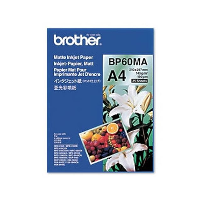 Brother BP60MA Inkjet Paper papier voor inkjetprinter A4 (210x297 mm) Mat 25 vel Wit