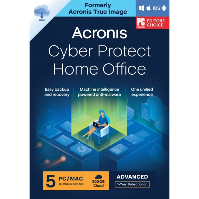 Acronis Cyber Protect Home Office Advanced 2022| 5-PC | 1-Jaar | 250 GB cloud back-up
