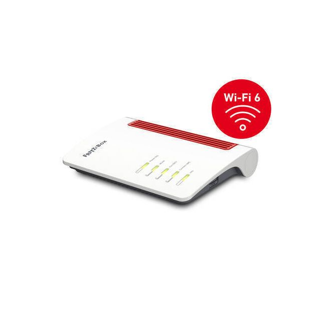 AVM FRITZ!Box 7530 AX wireless router Gigabit Ethernet Dual-band (2.4 GHz / 5 GHz) Rood, Wit
