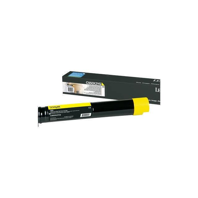 Lexmark C950X2YG toner cartridge 1 stuk(s) Origineel Geel