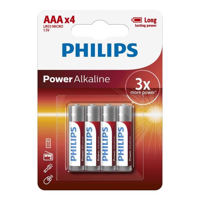 Philips Power Alkaline LR03P4B/05 household battery Wegwerpbatterij
