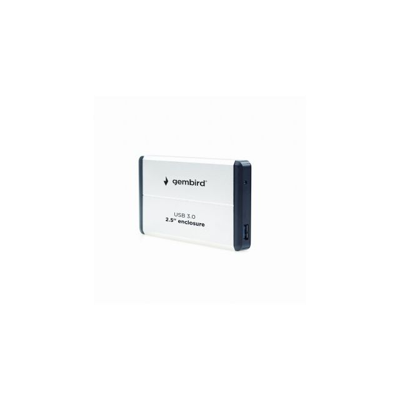 Gembird EE2-U3S-2-S storage drive enclosure HDD-behuizing Zilver 2.5 inch
