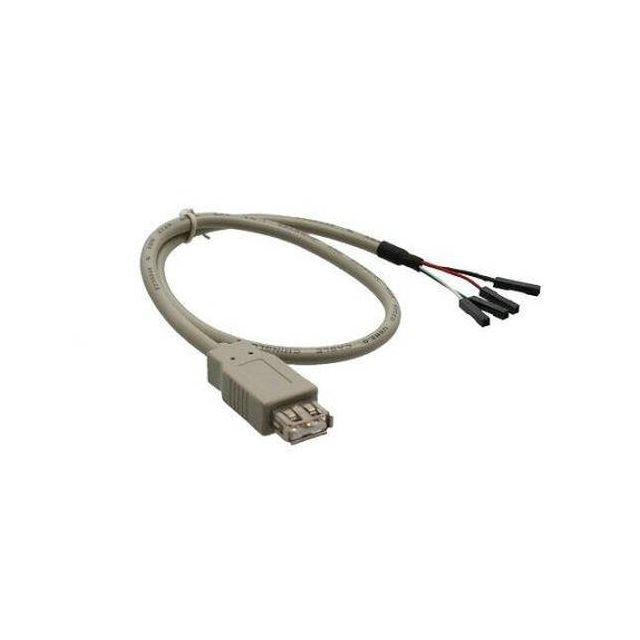 DeLOCK 82433 USB-kabel 0,4 m USB A Grijs
