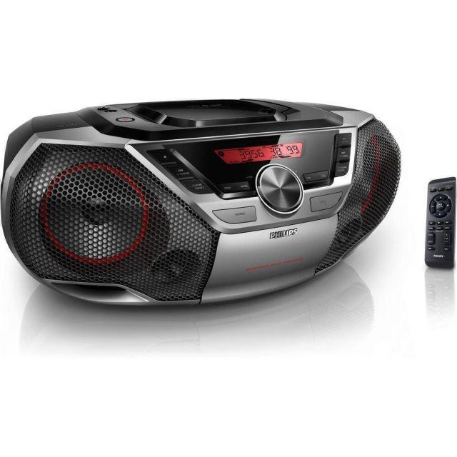 Philips AZ700T/12 portable stereo system Analoog 12 W Zwart, Zilver