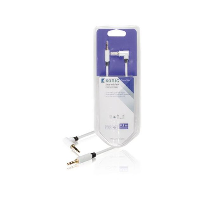 König KNM22600W05 audio kabel 0,5 m 3.5mm Wit
