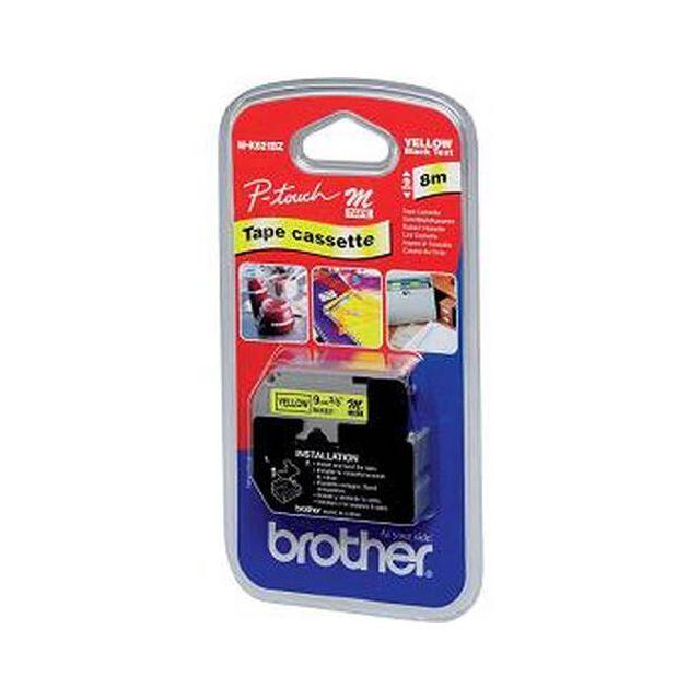 Brother M-K621B labelprinter-tape Zwart op geel