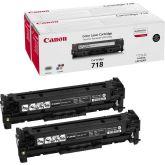 Canon CRG-718 Bk VP toner cartridge 2 stuk(s) Origineel Zwart