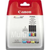 Canon CLI-551 C/M/Y/BK inktcartridge 4 stuk(s) Origineel Normaal rendement Zwart, Cyaan, Geel, Magenta
