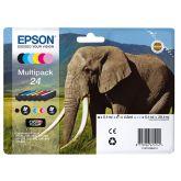Epson Elephant C13T24284011 inktcartridge 6 stuk(s) Origineel Normaal rendement Zwart, Cyaan, Lichtyaan, Magenta, Lichtmagenta, Geel