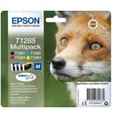 Epson Fox T1285 inktcartridge 4 stuk(s) Origineel Zwart, Cyaan, Magenta, Geel