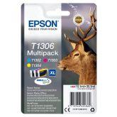 Epson Stag T1306 inktcartridge 3 stuk(s) Origineel Hoog (XL) rendement Cyaan, Magenta, Geel