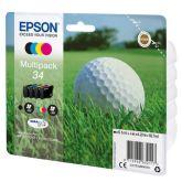 Epson Golf ball C13T34664010 inktcartridge 4 stuk(s) Origineel Normaal rendement Zwart, Cyaan, Magenta, Geel