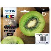 Epson Kiwi 202 inktcartridge 5 stuk(s) Origineel Normaal rendement Zwart, Foto zwart, Cyaan, Magenta, Geel