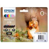 Epson Squirrel C13T37884020 inktcartridge 6 stuk(s) Origineel Normaal rendement Zwart, Cyaan, Lichtyaan, Magenta, Lichtmagenta, Geel